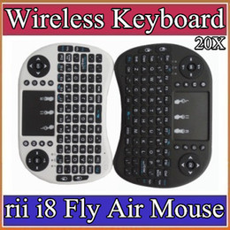 Wholesale Bluetooth Keyboard For Ipad Air - 10X 2016 Wireless Keyboard rii i8 keyboards Fly Air Mouse Multi-Media Remote Control Touchpad Handheld for TV BOX Android Mini PC 11-JP