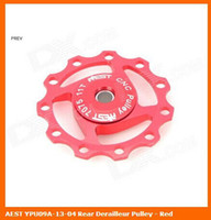 Wholesale Aest Pulley - Wholesale-AEST YPU09A-13-04 Rear Derailleur Pulley - Red