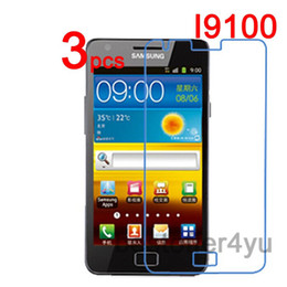 Wholesale Sii Cover - Wholesale-3pcs Anti-scratch CLEAR LCD Screen Protector Guard Cover Film For Samsung Galaxy S2 SII I9100 Protective Film +Cleaning Cloth