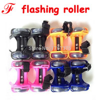 Wholesale two wheel rollers resale online - Evaluation Adult Child heel wheel shoes With flashing roller