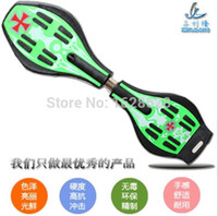 Wholesale Skateboard Double - Wholesale-free shipping Double Xin scooter serpentine dragon plate activity in children two stunning scooter rocket bat plate skateboard