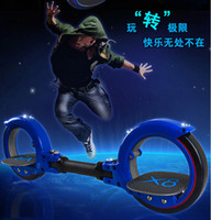 Wholesale X8 Skateboard Cycle - Wholesale-X8 Skate Cycle X-skate Cycle Fire Two Wheel Scooter Roller X8 Skateboard for Adult Scooter Wind Fire Wheels 6Colors to choose