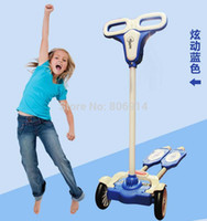Wholesale Zip Wheels - Wholesale-Free Shipping safer 4-wheel ZIP flick style double-board self propelled kid   child   pupil kick scooter foot scooter