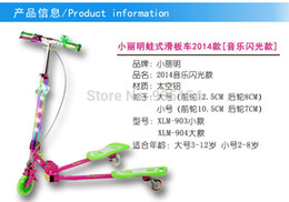 Wholesale New Foot Scooter - Wholesale-Free ship! New arrival three wheels kick scooter children foot scooter flash wheel electronic scooters