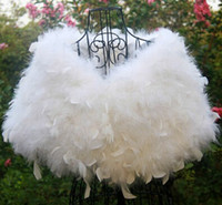 Sleeveless ostrich feather coats - 2015 New Style Ostrich Feather Shawl Bridal Wedding Shawl Winter Fur Coat Wedding Dress Jackets