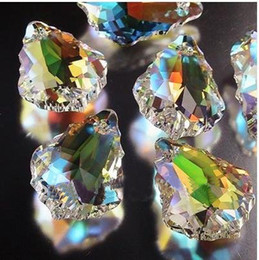 Wholesale Crystal Bead Curtain Lamp - Wholesale-Free shipping 25pcs lot 38*25mm Crystal Chandelier Parts,Crystal faceted suncatchers,wedding & lamp Crystal Curtain beads