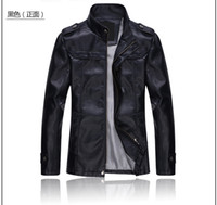 Wholesale Men S Red Leather Jacket - Fall-Free Shipping Leather Leader(LL) Brand Jacket New Fashion Motorcycle Leather Jacket Men Jacket