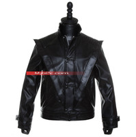 Wholesale Mj Clothing - Fall-Michael Jackson costume - Michael Thriller Jacket - Mj Clothes - Free Shipping