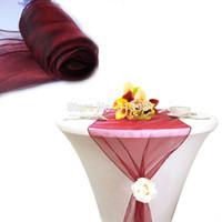 corredores de mesa de casamento borgonha venda por atacado-Atacado-12