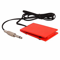 части педали оптовых-Wholesale-10pcs/lot Tattoo Power Supply Foot Pedal Footswitch Switch Controller Red Machines Accesories Parts High Quality Equipment