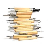 diy seramik malzemeleri toptan satış-Toptan-Sıcak Satış Yeni Yüksek Kalite 22 Adet / takım Polimer Kil Çömlekçilik Seramik Heykel Modelleme Araçları DIY Zanaat Araçları