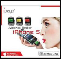 Wholesale Ipega Iphone Breath - Wholesale-iPega Breath Alcohol Tester Backlight LCD Digital Analyzer Breathalyzer For Iphone 5 5S 5C  iPad Air iPad 4 Mini iPod