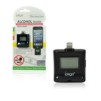 Wholesale Ipega Ipad Mini - Wholesale-IPega LCD Digital Alcohol Breath Tester For iPhone 5  iPod Touch5  iPad4  iPad Mini Portable Breathalyzer Free Shipping