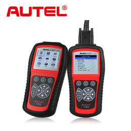 Wholesale Obdii Abs Engine - Wholesale-Original Autel Autolink AL619 ABS SRS + CAN OBDII Diagnostic Scan Tool Turn off Check Engine Light clears codes resets monitors
