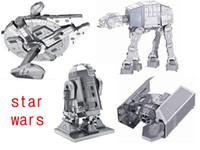 Wholesale Wholesale Brain New - Wholesale-4 pcs Star Wars brinquedos para as crian Puzzle toys New Russia metal earth 3D Nano metal DIY Puzzle brain juguetes educativos