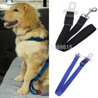 cinturones de seguridad de coche rojo al por mayor-Cinturón de seguridad negro mayor-ajustable del perro del animal doméstico del perro del animal doméstico Cinturón negro del animal doméstico para el cinturón azul del cinturón de seguridad del perro del rojo Amy Red Envío libre