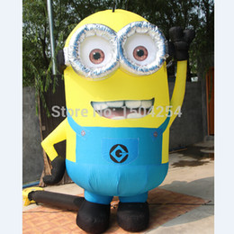 Wholesale Despicable Inflatable - Wholesale-Minions Inflatable Despicable Me Cartoon with 3D Eyes for Advertising Inflatables