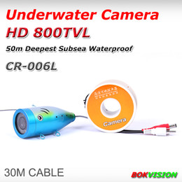Wholesale Underwater Fish Cameras - Underwater cctv camera HD 800TVL the second generation CR-006L fish finder fishing camera super strong metal case with 30M cable