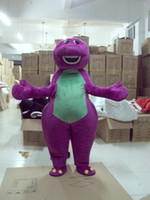 Wholesale Barney Dinosaur Dress - Wholesale-Professional animals purple barney Dinosaur mascot Fancy Dress Costume Adult Size EPE Suit mascot costume