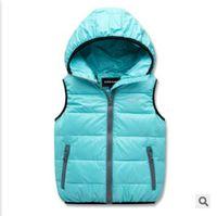 Wholesale Eiderdown Coat - Wholesale-boy and girl winter down vest children's Outerwear Coats Vests & Waistcoats windbreaker Eiderdown cotton coats 11