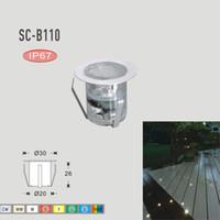 levou pátio deck luzes venda por atacado-Atacado-7Cores de Aço Inoxidável Pátio LED Bares de Luz DC12V 0.6 W IP67 SMD2835 LEVOU Iluminação Ao Ar Livre Decoração de Jardim Lâmpadas Subterrâneas