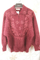 Wholesale-Top Luxus langhaarigen Angora Vintage Strickjacke Mantel dicker Temperament c23