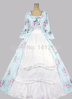 Wholesale New Southern Belle Costumes - Wholesale Brand New Floral Print Gothic Victorian Ball Gowns Southern Belle Party Dresses