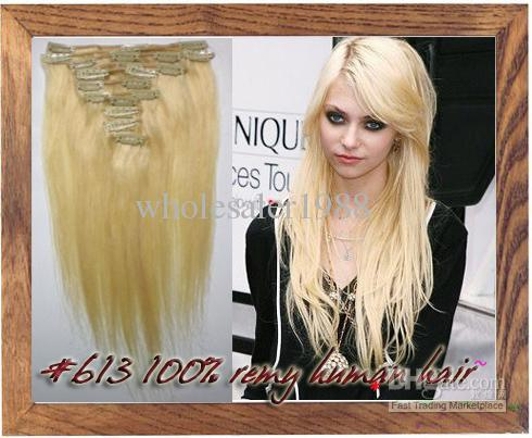 2018 26 inch 613 bleach blonde clip in100 remy human hair 2018 26 inch 613 bleach blonde clip in100 remy human hair extensions 75g from wholesaler1988 4729 dhgate pmusecretfo Gallery