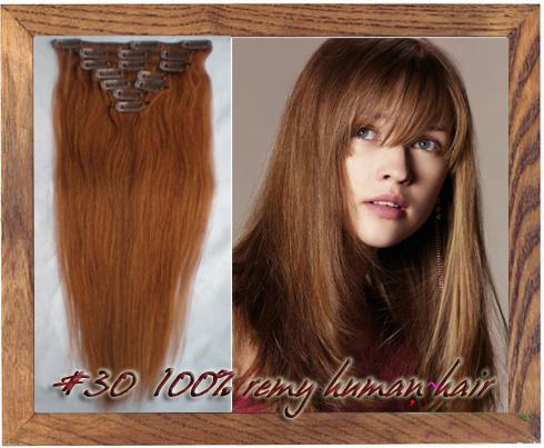18 26 inch clip in 100 remy human hair extensions 30 auburn 105g 18 26 inch clip in 100 remy human hair extensions 30 auburn 10pcsset 105g pmusecretfo Image collections