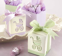 Wholesale Baby Day Out Candy - FREE SHIPPING+ Baby's Day Out Laser-Cut Carriage Candy Boxes ,favor box, sweet boxes ,Baby Shower, Party Supply