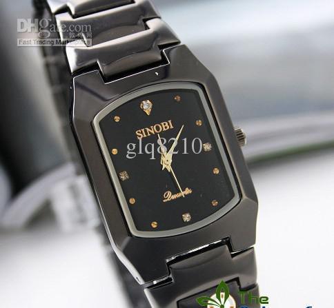 新しい割引ファッションタングステンスチール腕時計パーソナライズされたクォーツメンズビジネスウォッチSinobiクリスマスギフト5ピース/ロット