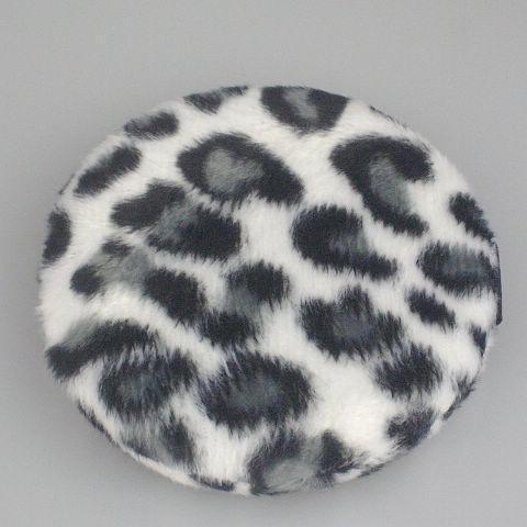 / 얼굴 및 바디 파우치 퍼프 리본 스타일 흑백 표범 분말 퍼프 85mm