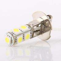 Wholesale H3 Smd - Simple H3 12V Fog 9 5050 SMD LED Xenon White Light Bulb Lamp For Car 2pcs lot