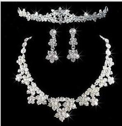 Wholesale Cheap Fashion Accessories Wholesale China - Bridal Tiaras crown Hair Necklace Earrings Accessories Wedding Jewelry Sets cheap price fashion style bride hair d bridalamid HT030
