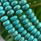 Wholesale Abacus Turquoise - 5x8mm Green Turquoise Abacus Gemstone Loose Beads 15""