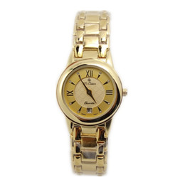 Wholesale Brand Luxury Watches Women - free shipping Hi Class brand luxury watches women gold stainless band and case watches ladies fashion casual watches women's sports watches
