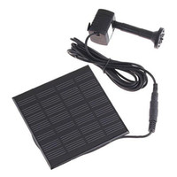 outdoor fountain kits - Solar Power Fountain Pool Water Pump Garden Plants Watering Kit Low Carbon Garden Watering outdoor DHL H4009