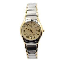 Wholesale Atm Waterproof Watch - women's fahion casual watches Japan quartz calendar women's dresswatches gold with silver case 3 ATM waterproof women trendy sports watches!