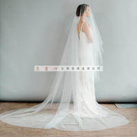 One-Layer packaging nets - Packages mailed the bride wedding veil long three meters wide three metres long yarn vegan naked light yarn covered face veil can take pictu