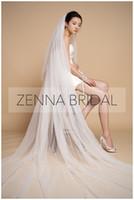 Wholesale Double Layer Long Veils - ABELENA super-long extra-wide soft net double long veil - zeno wedding accessories