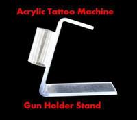 Wholesale Tattoos Machine Gun Stand - pro NEW Acrylic Tattoo Machine Gun Holder Stand kit