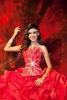 Wholesale Dress Quinceanera Hot Sale - Hot Sale 2017 Red Quinceanera Dresses With Sparkly Beaded Bodice Sexy Vestidos De Quinceanera For 16 Years Girls