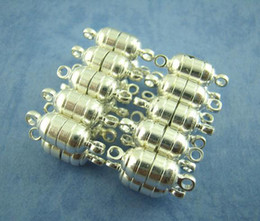 Wholesale Strong Magnetic Clasp Silver Plated - 100Pairs Silver plated Strong Magnetic Clasps 15x5.5mm