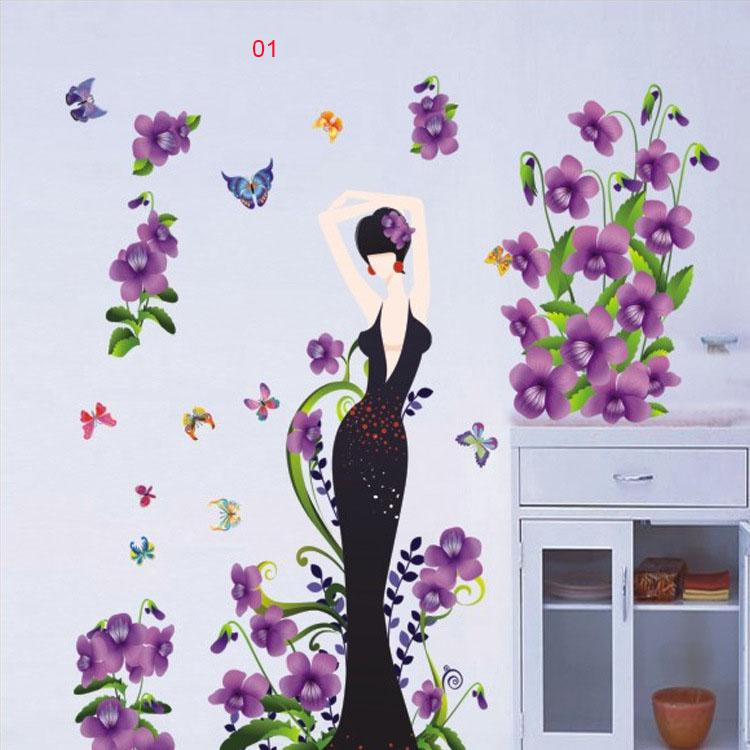 3d Stereo Flowers Wall Art Mural Sticker Decor Diy Home Decoration
