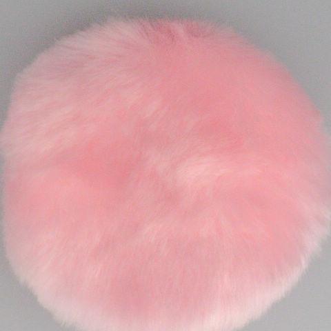 豪華なパウダーパフ片面豪華なピンクのパウダーパウフ20個/バッグ80mm