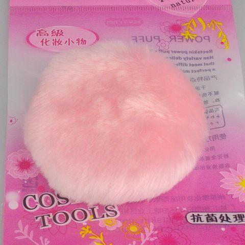 Luxuriöser Puderquaste Einseitiger Plüsch rosa Puderquaste 20 Stück / Beutel 80mm