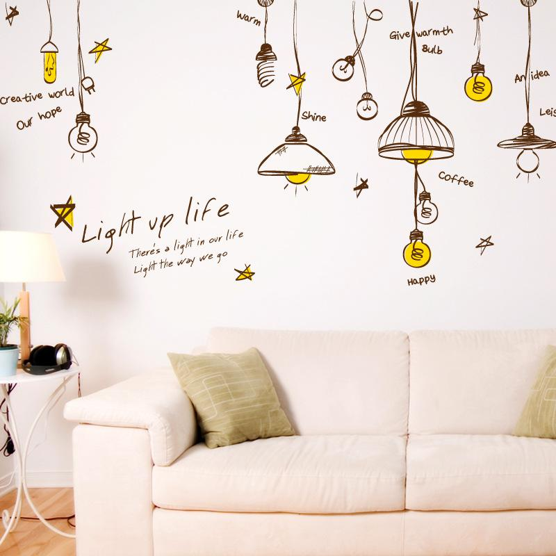 Personalized Droplight Wall Art Decal Decor Sticker Ceiling Light Art Decal  Sticker Light Up Light Wall Quote Decal Sticker Home Decor Decorative  Decals ... Part 90