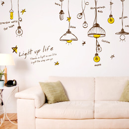 Wholesale Plane Ceiling Light - Personalized Droplight Wall Art Decal Decor Sticker Ceiling Light Art Decal Sticker Light UP Light Wall Quote Decal Sticker Home Decor