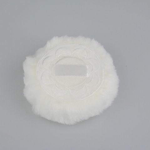 Poudre de luxe luxueuse à une face en peluche blanche soufflant 20 photos / sac 80mm