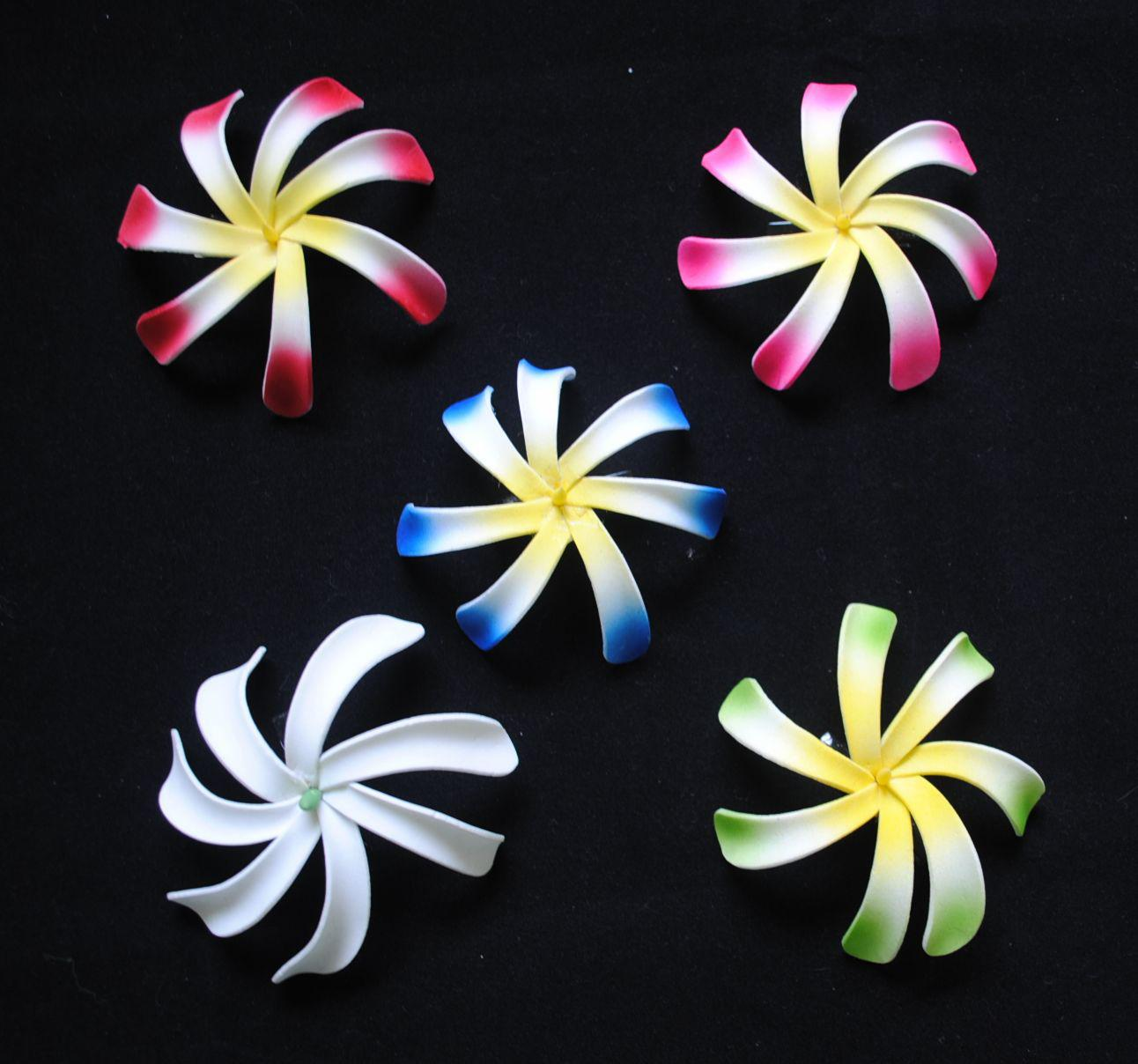 2018 4 artificial tiare foam flower hawaiian flower with hair clip free shipping 250pcs 4 artificial tiare foam flower hawaiian flower with hair clip 5 colors mixed izmirmasajfo Image collections